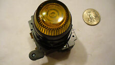 CUTLER-HAMMER 30mm YELLOW INDICATOR  - GLASS LENS W/ LED  BULB,  E34FB197L YG74