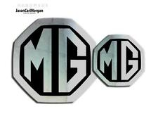 New MG ZR LE500 MK2 Badge Inserts Front Grill  Rear Boot Logo 59mm 95mm Chrome
