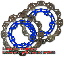 Front VEE Brake Rotors - Blue - SC-KT-EBC-FT0198 for 99-02 Suzuki SV650 Apps.