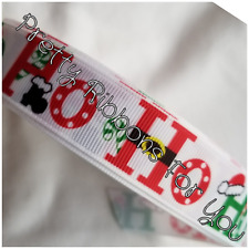"Ho Ho Ho Christmas 3"" wide grosgrain ribbon the listing is for 2 yards"