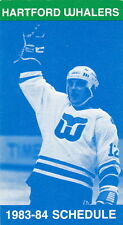 1983-84 Hartford Whalers Hockey Pocket Schedule