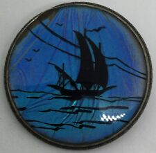 Vintage Large Butterfly Winged Sailing Boat Sterling Pin (S90)