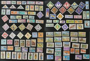 Mongolia collection of 100's VF used stamps many are complete sets (v076)