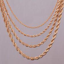 Collier chaines torsadé couleur Or brillant diamètre 3-5 mm différentes longueur