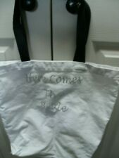 Here Comes the Bride White and Silver Bag