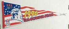 USA Vintage Circa 1996 U.S.OLYMPIC TEAM Logo Felt Pennant, Bald Eagle, Red White
