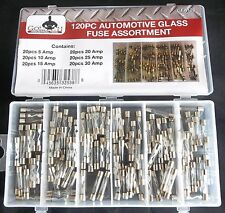 New Listing120pc Goliath Industrial Glass Fuse Assortment Fuses Car Truck Electrical