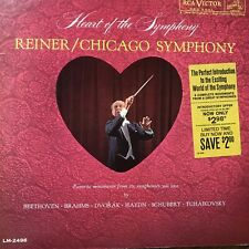 Heart of Symphony Reiner Chicago Symphony Orchetrsa Record 33 rpm Cat Rescue