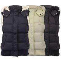 Ladies Vintage Boutique Gilet Womens Padded Hooded Jacket Sherpa Fur Bodywarmer