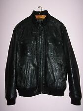 BLUE HARBOUR, MARKS & SPENCER, Men's Leather Jacket, Black, Large