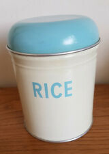 Vintage Worcester Ware Rice tin in great condition turquoise and cream