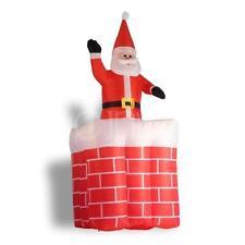 Weihnachtsmann im Kamin 180cm aufblasbar inkl. Lüfter auf und ab Funktion