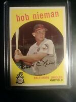 1959 Topps #375 Bob Nieman Baltimore Orioles Baseball Card MINT MT Grade worthy