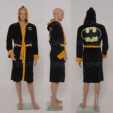 Batman Classic Adult Fleece Dressing Gown Logo Hooded Bath Robe Free Size
