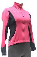 Castelli Rosso Corsa Trasparente Thermal Jacket Women SMALL Pink Road Bike CX