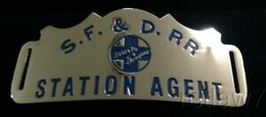 ~SANTA FE & DISNEYLAND RAILROAD~REPRO.STATION AGENT HAT BADGES!~FINALLY HERE!