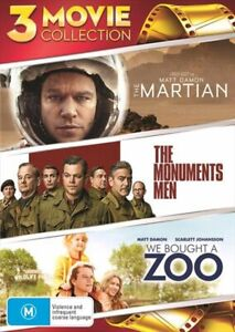 The Martian / The Monuments Men / We Bought A Zoo DVD