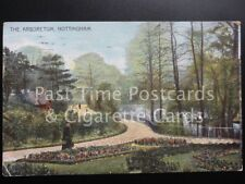c1906 Nottingham: The Arboretum showing Lake and Flower Beds