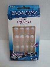 BROADWAY NAILS FAST FRENCH GLUE-ON NAIL KIT MEDIUM LENGTH BFD05