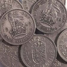 British One Shilling Coins 12d - Choose Your Year - Great Birthday Gift