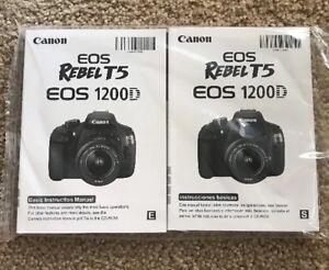 Canon EOS Rebel T5 1200D Manual & 2 CD New