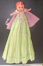 "circa 1920's KEWPIE DOLL Victorian Style + Giant 17"" Crepe Paper Dress & Cape!"