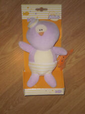 Doudou Peluche Jemini Plush Pingouin Auk Pinguin Bébé Poisson Fish mauve Orange