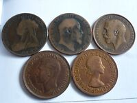 VARIOUS LARGE/OLD VICTORIA + ONE PENNY 1895/1970 COIN HUNT YOUR CHOICE OF YEAR