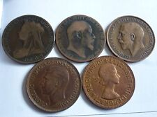 VARIOUS LARGE/OLD VICTORIA + ONE PENNY 1860/1869/1970 COIN HUNT CHOICE OF YEAR
