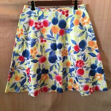 NWT Talbots Skirt Fruit Floral Motif A-Line Size 8 Black Label