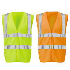 Mens Raiken Hi Vis Sleeveless Visibility Jacket High Viz Work Vest Top Size