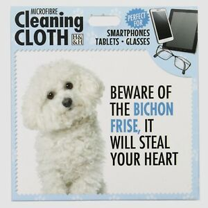 Bichon Frise Microfibre Cleaning Cloth For Tablet Phone Glasses Dog Lovers Gift