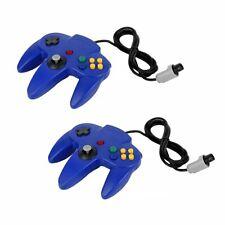 2x Game controller Joystick für Nintendo 64 N64 System GamePad Blau