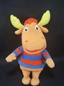 "Backyardigans Tyrone Plush Stuffed Toy Ty Beanie Babies Moose blue red Shirt 8"""