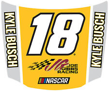NASCAR #18 Kyle Busch Hood Shaped Magnet-NASCAR Magnet