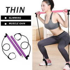 Pilates Bar Kit Resistance Band Portable Exercise Stick Toning Yoga Gym Fitness