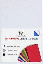 A4 White Glitter Foam Sheets EVA Foam Adhesive Sticky Back Foam Sheet 1.8mm