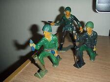 VINTAGE TIM MEE 5 INCH PLASTIC TOY SOLDIERS lot of 3 custom painted