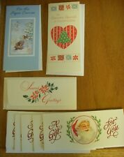 Lot 7 Christmas Money Card Holders 1 For Paper Carrier Hallmark American Greetin