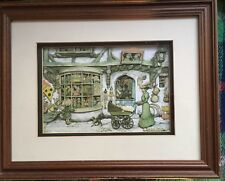 Anton Pieck Diorama Of A Toy Shop 3D framed.Approx year 1988