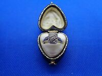 VINTAGE ART DECO STERLING SILVER & MARCASITE RING