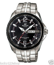 EF-131D-1A1 Black Casio Men's Watches Edifice Day Date Analog Steel Full Packy