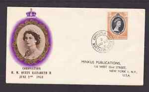 Northern Rhodesia 1953 FDC 1st day cover to the USA QE II Coronation BPA cachet