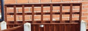 2 x Fence Panel Extender 600mm long  Post Extension Trellis suitable for 1 panel