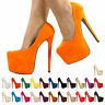 NEW WOMENS LADIES HIGH STILETTO HEEL CONCEALED PLATFORM COURT SHOES SIZE 3-8
