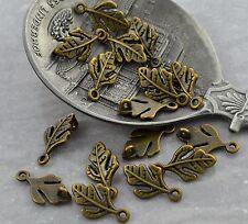 6 Verbinder Moustache Bart vintage Bronze
