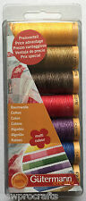 Gutermann Cotton 50 Thread Set Multi-Colour - 7 REELS 100m Patchwork & Quilting