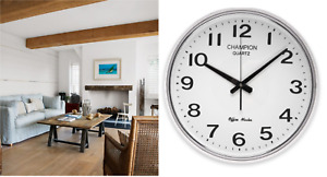 Champion wall clock Very Large 15 Inch 380mm Bold Quality Heavy Construction