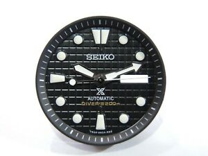 NEW REPLACEMENT SEIKO PROSPEX BLACK WAFFLE DIAL SET WILL FIT SKX007-009 DIVER'S