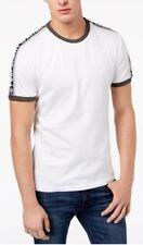 Superdry Men's Optic White Stadium Ringer Crew-Neck Short Sleeve T-Shirt